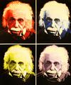 STEVE KAUFMAN - EINSTEIN THE GENIUS- QUAD