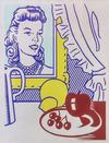 ROY  LICHTENSTEIN - STILL LIFE WITH PORTRAIT