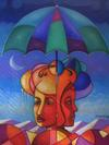 GILLES RAOUL - Abstract head under the umbrella