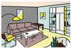 LICHTENSTEIN, ROY  - MODERN ROOM