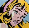 STEVE KAUFMAN - CRYING GIRL - HOMAGE TO LICHTENSTEIN