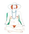 TOM WESSELMANN - MONICA SITTING CROSS-LEGGED WITH BEADS