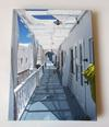 JANE A GORDON - Santorini Walkway: Every Day Serenity