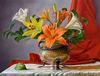 ELLERY GUTIERREZ - Lilies in a Bronze vase